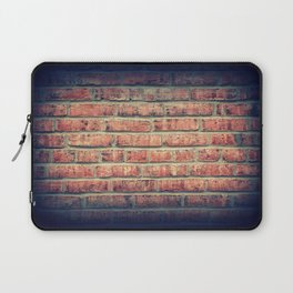Red brick wall texture background with vignetting corners Laptop Sleeve