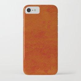 concrete orange brown copper plain texture iPhone Case