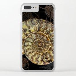 Ammonite Trilobite Fibonacci Spiral Clear iPhone Case