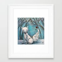 bianca green Framed Art Prints featuring Bianca by Allison Weeks Thomas