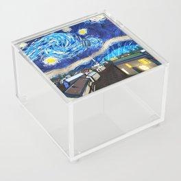 Tardis Art Starry City Night Acrylic Box