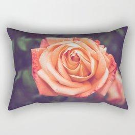 Orange Rose Rectangular Pillow