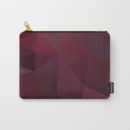 Abstract background of triangles polygon design red marsala colors Carry-All Pouch