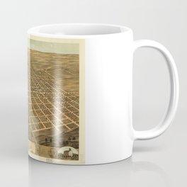 Bird's Eye View of Monmouth, Illinois (1869) Coffee Mug