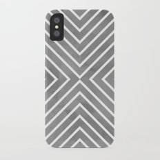 Stripes in Grey iPhone X Slim Case