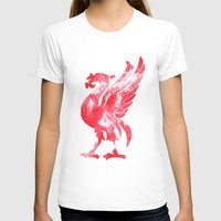 liverpool T-shirts featuring Liverpool Liver Bird watercolour  by sarah illustration