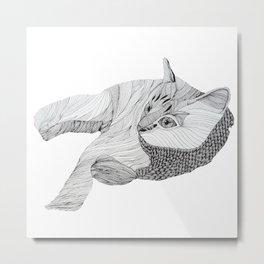 Hachiko Doodle Metal Print