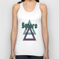 square Tank Tops featuring Square by Herzensdinge