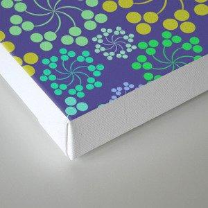 Fun Multicolored Whirligig Pattern Canvas Print