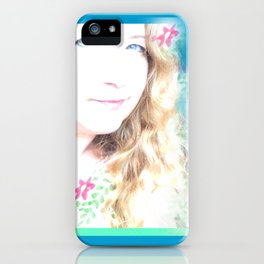 Holiday Dreams Self Portrait iPhone Case