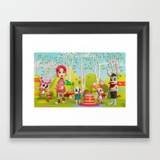 Zia and the Wabbits Framed Art Print