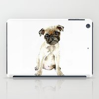 dorothy iPad Cases featuring Dorothy the Pug  by Bridget Davidson