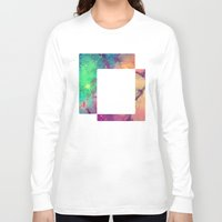 decal Long Sleeve T-shirts featuring Space Decal by artii
