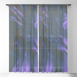 Surreal Trip Glitches Sheer Curtain
