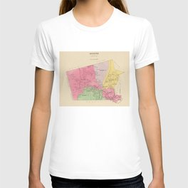 Vintage Map of Keene New Hampshire (1892) T-shirt