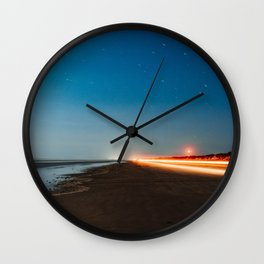 Taillights On the Beach Wall Clock