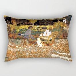 In the Garden by Édouard Vuillard - Les Nabis Oil Painting Rectangular Pillow