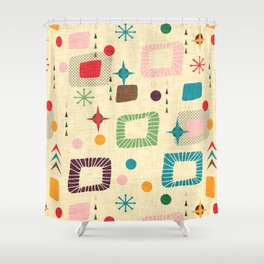 Atomic pattern Shower Curtain