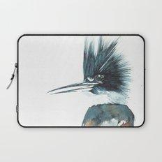 Kingfisher Watercolour Portrait Laptop Sleeve