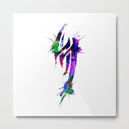 Jin Kazama Colorful ink Metal Print