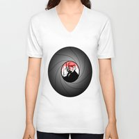 bond V-neck T-shirts featuring Trooper Bond by FOREVER NERD