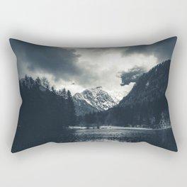 Darkness and rain at Zgornje Jezersko, Slovenia Rectangular Pillow
