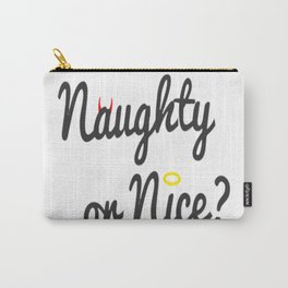 Naughty or Nice Christmas Carry-All Pouch