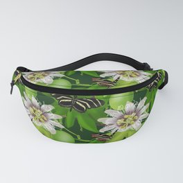 Zebra Longwing visits Passionflower Vine Fanny Pack
