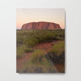 Sunset at Uluru Metal Print