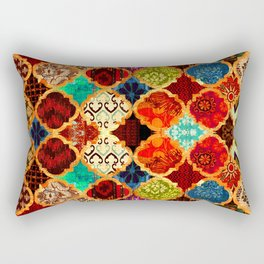 -A32- Epic Colored Traditional Moroccan Artwork. Rectangular Pillow