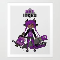 Get Inked Art Print