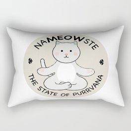 Yoga Cat Namaste Rectangular Pillow