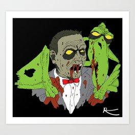 Zombie's Playhouse Art Print