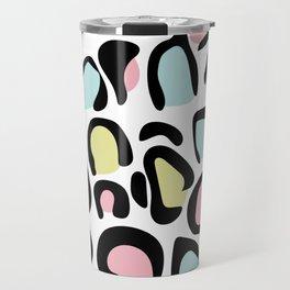 80's leopard skin pattern Travel Mug