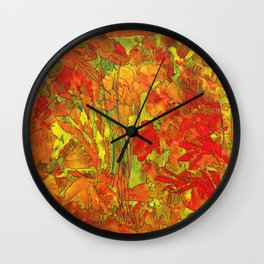 Summer doodle Wall Clock