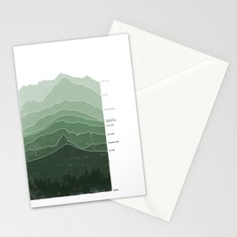 Above Sea Level Stationery Cards