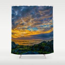 Sunset Sky Over Laguna Beach Shower Curtain