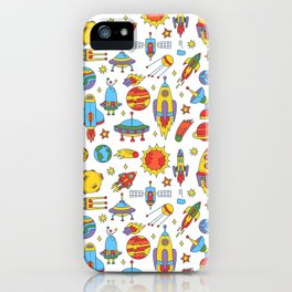 Outer space cosmos pattern iPhone Case
