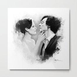 Sherlock & Irene Metal Print