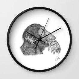 The thinker monkey Wall Clock
