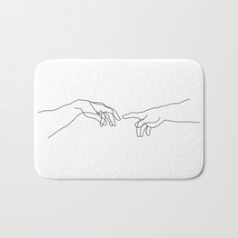 Creation of Adam Minimal Drawing Bath Mat