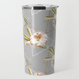 Botanical blooming with geometric 02 Travel Mug