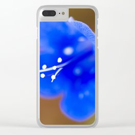 Desert Bluebell Clear iPhone Case