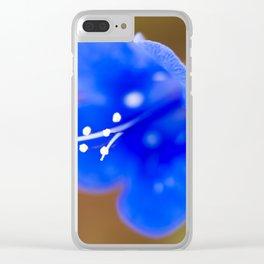 Desert Bluebell Clear iPhone Case