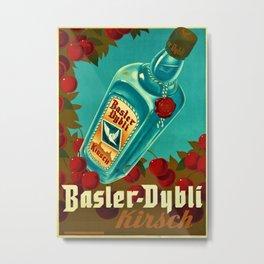 1935 Vintage Balser-Dybli Kirsch Liquor Advertisement Poster Metal Print