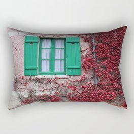 French Window in Autumn Rectangular Pillow