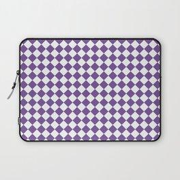 Small Diamonds - White and Dark Lavender Violet Laptop Sleeve