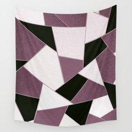 Mauve Black Geometric Glam #1 #geo #decor #art #society6 Wall Tapestry