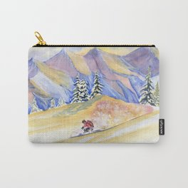 Powder Skiing Art Carry-All Pouch