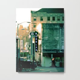 Norblad Hotel City Street Sign Astoria Oregon Metal Print